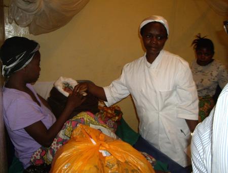 enfermera del Congo